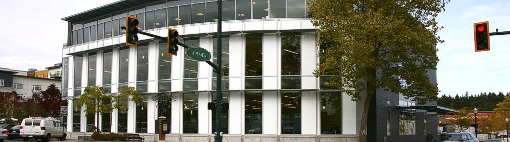 Burien, Washington Library   Glazing Contractor: Eastside Glass   Architect: Ruffcorn, Mott, Hinthorne, Stine   Glass: PPG Starphire with white Opaci-coat