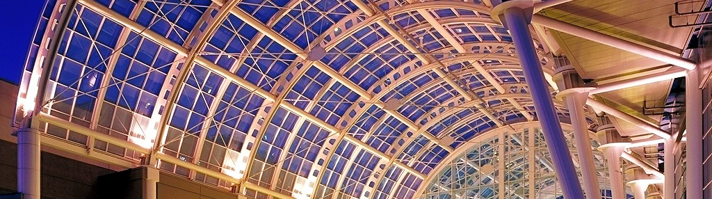 Seattle Convention Center   Glazing Contractor: Evergreen House   Architect: LMN Architectual   Glass: Clear custom silkscreen laminated