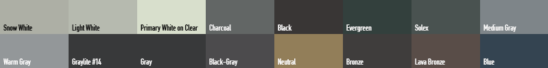 Industry Standard Opaci-Coat Colors