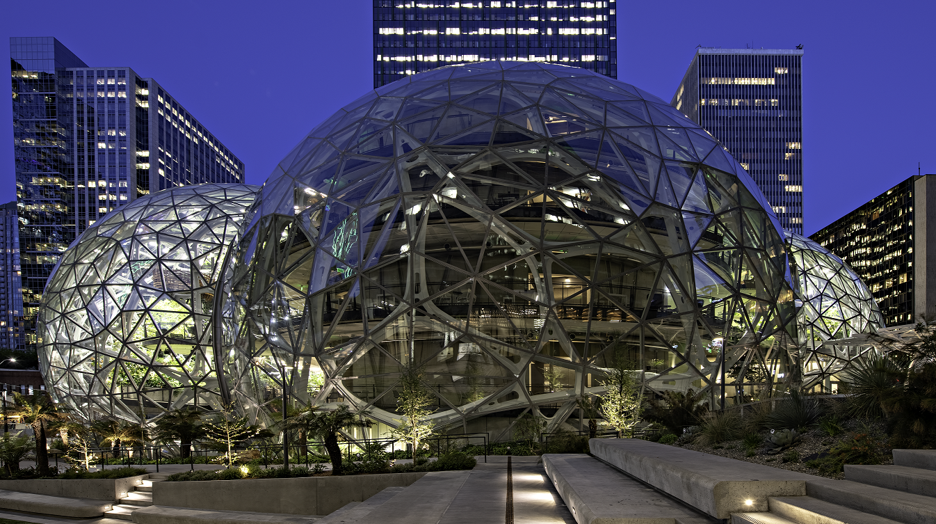 Amazon's Rufus Spheres Seattle, WA | Glazing contractor: Enclos | Architect: NBBJ | Glass: Solarban 60 Starphire